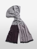 Calvin Klein Colorblock Fringed Scarf