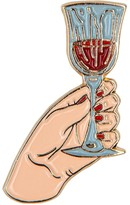 Make Heads Turn Enamel Pin Glass Of Wine