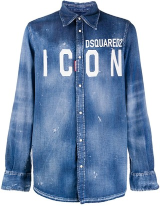 DSQUARED2 ICON logo denim shirt