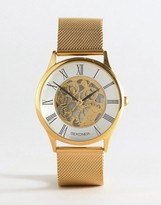 Sekonda Gold Mesh Exposed Mechanics Watch Exclusive To Asos