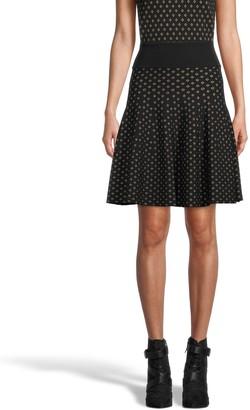 Nicole Miller Diamond Jacquard Skirt