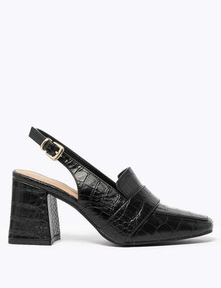 Marks and Spencer Square Toe Slingback Shoes