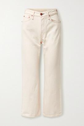 rag & bone - + Net Sustain Maya Cropped Organic High-rise Straight-leg Jeans - Ecru