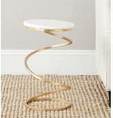 Safavieh Treasures Nevina Gold/ White Top Accent Table