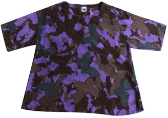M Missoni Purple Silk Top for Women Vintage