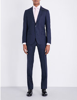 Lardini Micro-square patterned tailored-fit wool suit