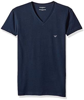 Emporio Armani Men's The The Big Eagle Vneck T-Shirt Thermal Underwear Top,L