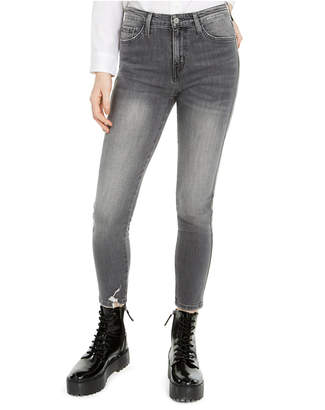 Flying Monkey Distressed High-Rise Cropped Skinny Jeans