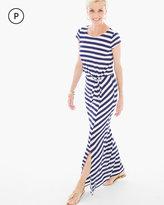 Chico's Stripe Popover Maxi Dress