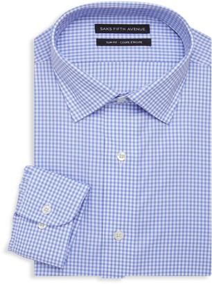 Saks Fifth Avenue Slim-Fit Gingham Dress Shirt