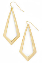 Argentovivo 18K Gold Plated Sterling Silver Triangle Drop Earrings