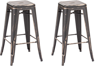 ZUO Marius Set Of Two Barstools