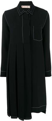 Marni pleated panel shirt dress