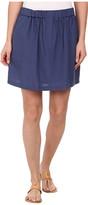 Lacoste Elastic Waistband Linen A-Line Skirt