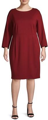 Lafayette 148 New York Plus Dolman-Sleeve Dress
