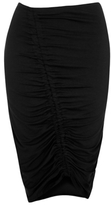 George Ruched Pencil Midi Skirt