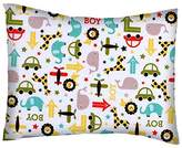 SheetWorld Percale Twin Pillow Case - Cars & Animals - Made In USA