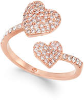 Kate Spade Rose Gold-Tone Pavé Heart Ring