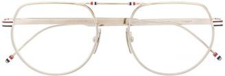 Thom Browne RWB soft round-frame glasses
