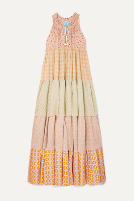 Yvonne S Hippy Tiered Printed Cotton-voile Maxi Dress - Pink