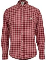 River Island Red Franklin And Marshall Casual Check Shirt