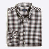 J.Crew Factory Heathered cotton plaid shirt