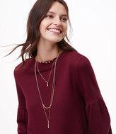 LOFT Crystal Layered Pendant Necklace