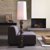 Weathered Wood Floor Lamp