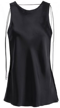 Helmut Lang Tie-detailed Satin Tank