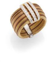 Alor Diamond, Stainless Steel & 18K Gold Ring