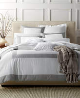 Charter Club Damask Designs Colorblock Dove Twin Duvet Set, Created for Macy's