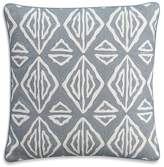"Cupcakes And Cashmere Moroccan Geo Crewel Decorative Pillow, 18"" x 18"""