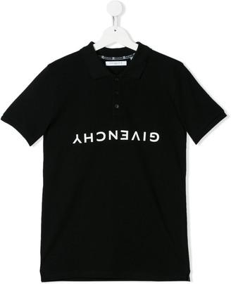 Givenchy Kids Upside-Down Logo Polo Shirt