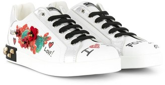 Dolce & Gabbana TEEN embellished sneakers
