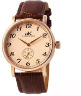 Adee Kaye AK9061-MRG-RG Men's Vintage Mechanical Watch