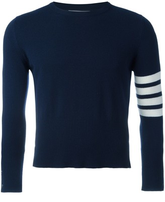 Thom Browne 4-Bar Short Cashmere Pullover