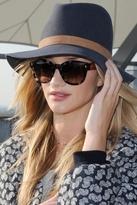 Janessa Leone Lucy Wool Felt Fedora Hat in Gunmetal