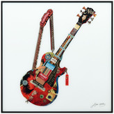 """Empire Art Direct """"Electric Guitar"""" Printed Wall Art With Black Anodized Aluminum Frame"""