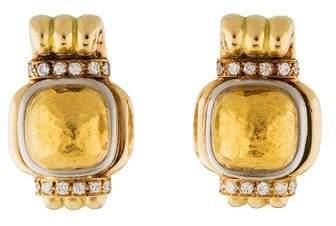 Chaumet 18K Diamond Scroll Earclip Earrings