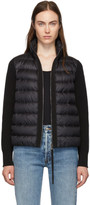 Moncler Back Down and Wool Knit High Neck Jacket