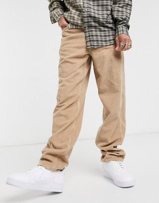 ASOS DESIGN baggy corduroy jeans in tan