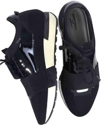 Balenciaga Race Black Leather Trainers