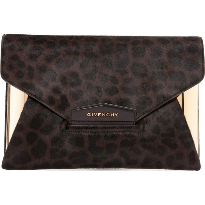 Givenchy Pony-style calfskin clutch bag