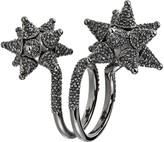 Swarovski Kalix Double Ring - Silver Night