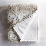Pier 1 Imports Luxe Faux Fur Taupe Leopard Throw