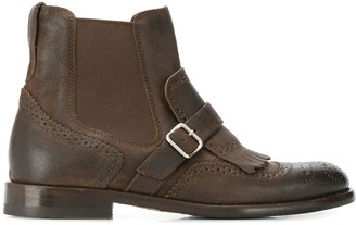 Henderson Baracco brogue detail ankle boots