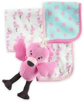 Carter's Flamingo Plush Bath Toy and Washcloth Set in Pink
