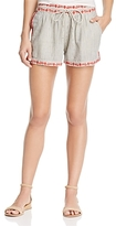 Ella Moss Embroidered Stripe Shorts