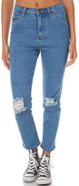 Rusty High Straight Womens Jean Blue