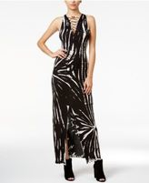 Material Girl Juniors' Printed Lace-Up Maxi Dress, Only at Macy's